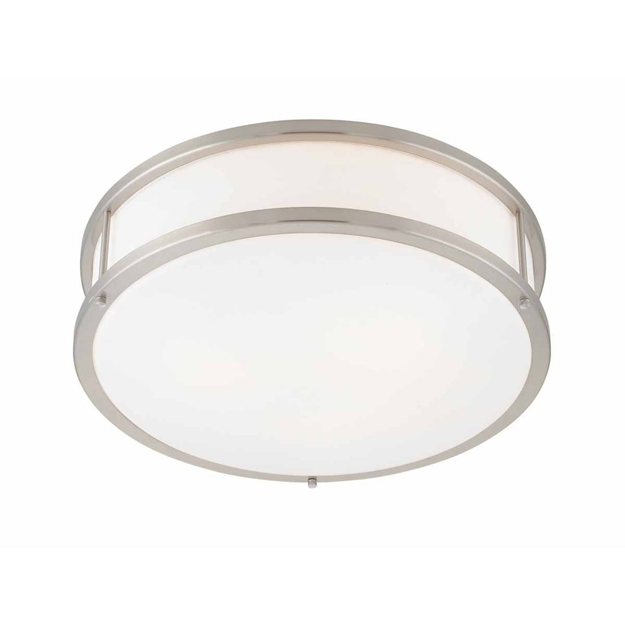 Access Lighting Conga 16-in W Brushed Steel Ceiling Flush Mount Light
