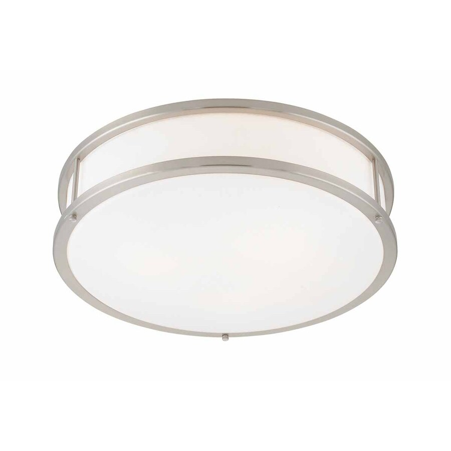 Access Lighting Conga 19-in W Brushed Steel Ceiling Flush Mount Light