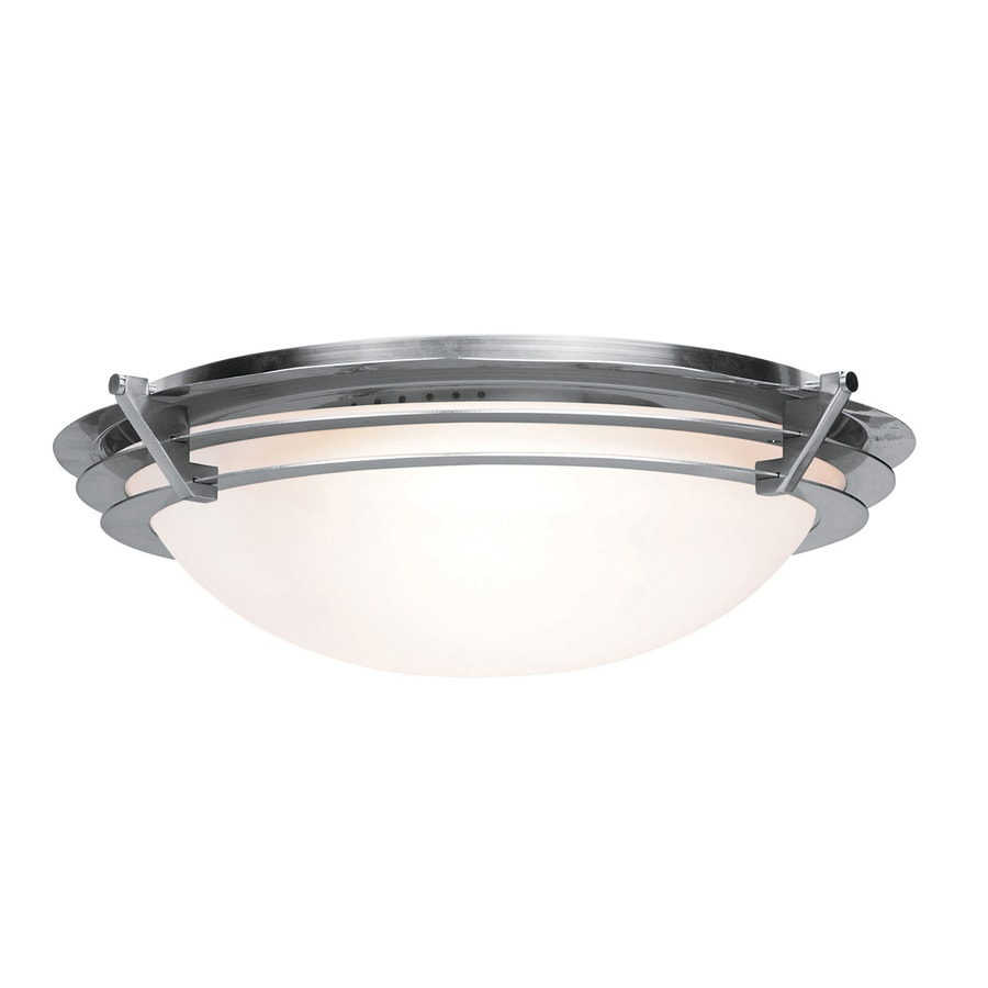Access Lighting Saturn 9.5-in W Brushed steel Flush Mount Light