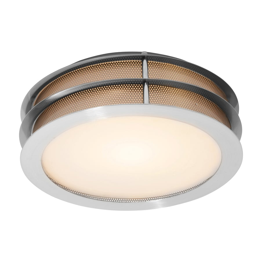 Access Lighting Iron 12-in W Brushed Steel Ceiling Flush Mount Light