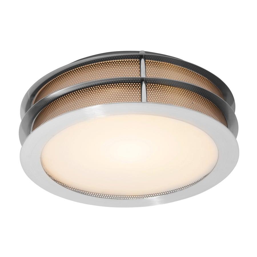 Access Lighting Iron 12-in W Brushed Steel Flush Mount Light