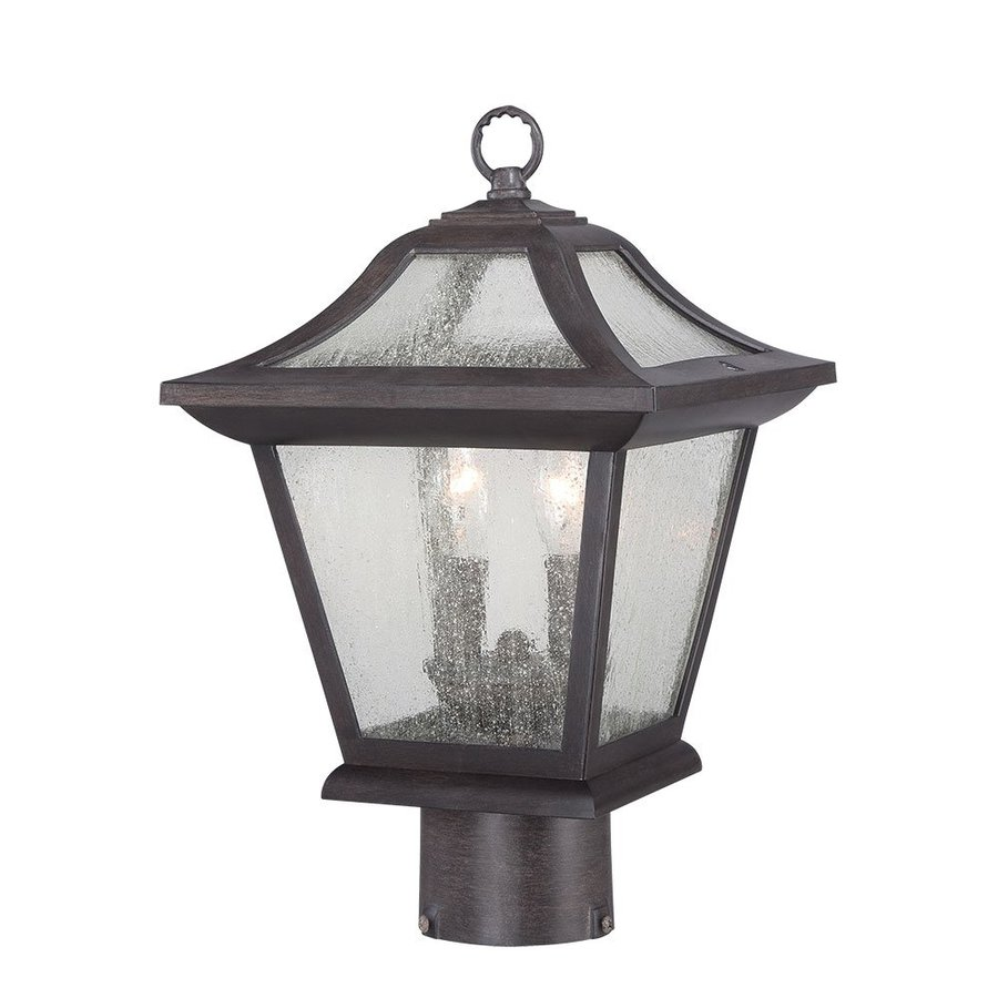 Acclaim Lighting Aiken 15-in H Black Coral Post Light