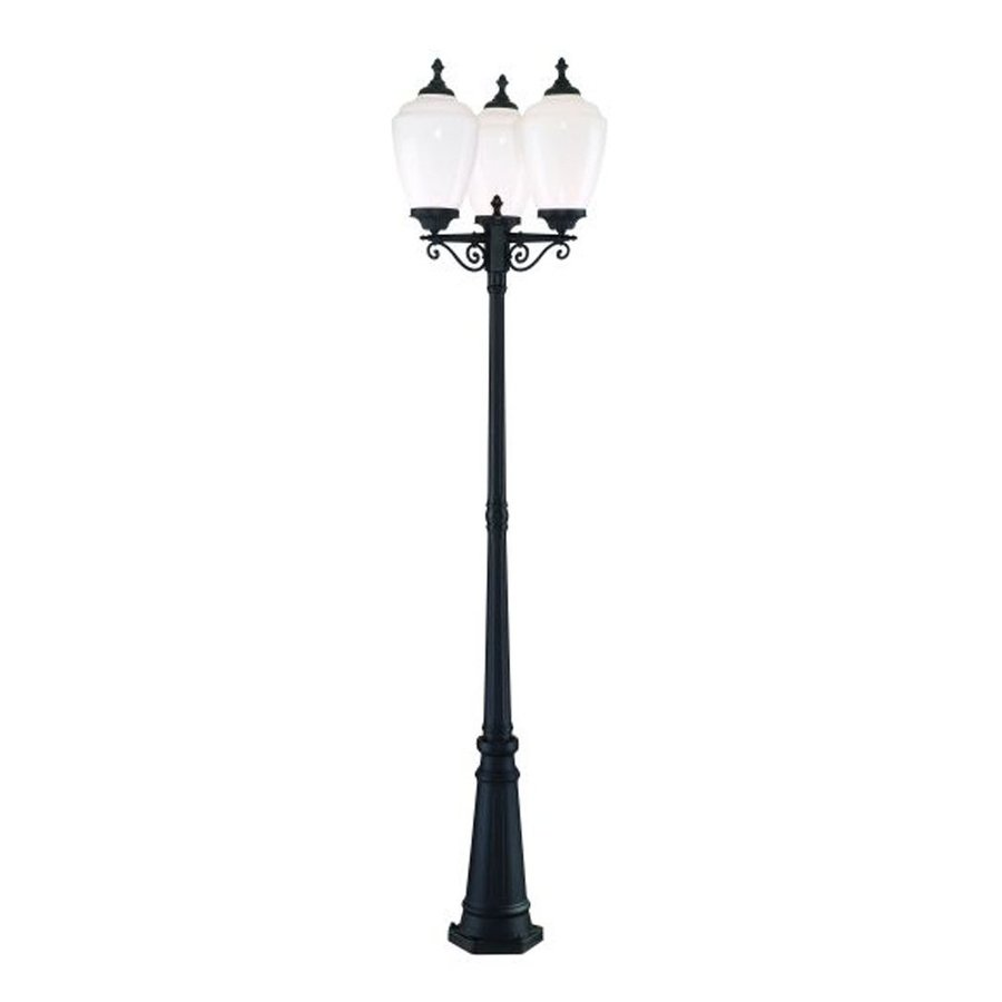 Acclaim Lighting Acorn 91-in H Matte Black Post Light