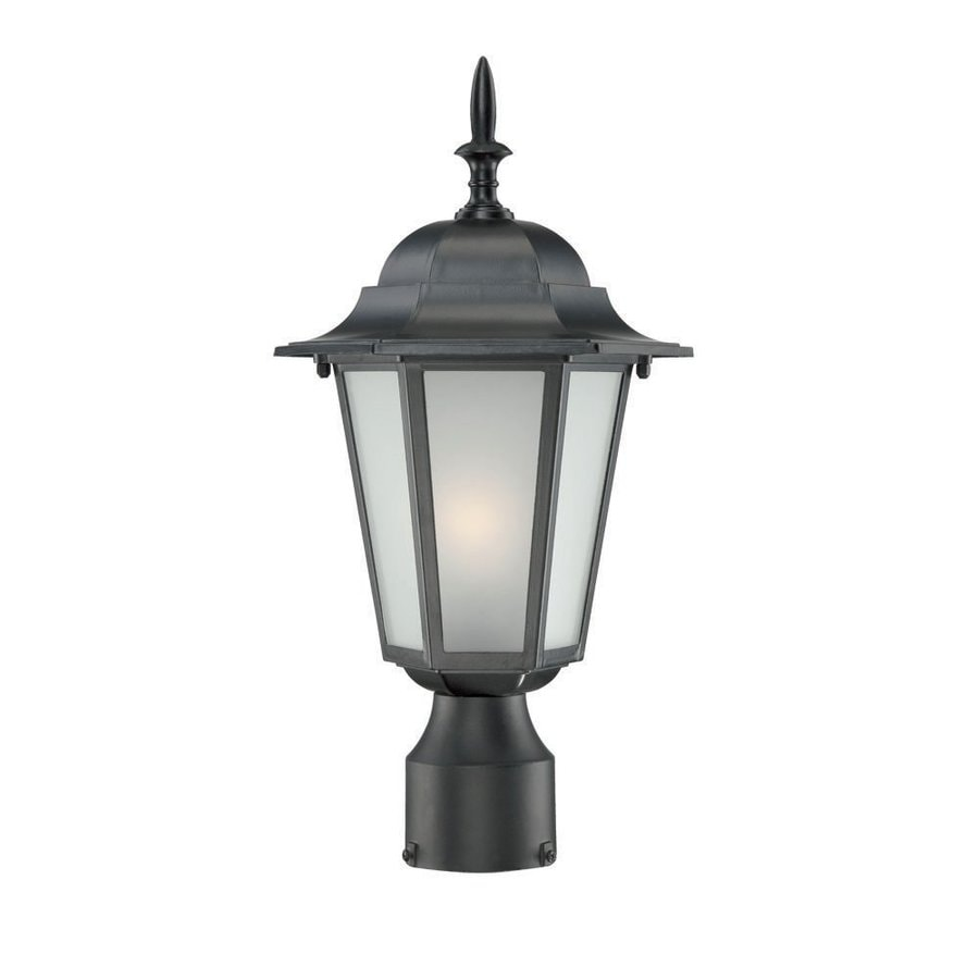 Acclaim Lighting Camelot 15.25-in H Matte Black Post Light