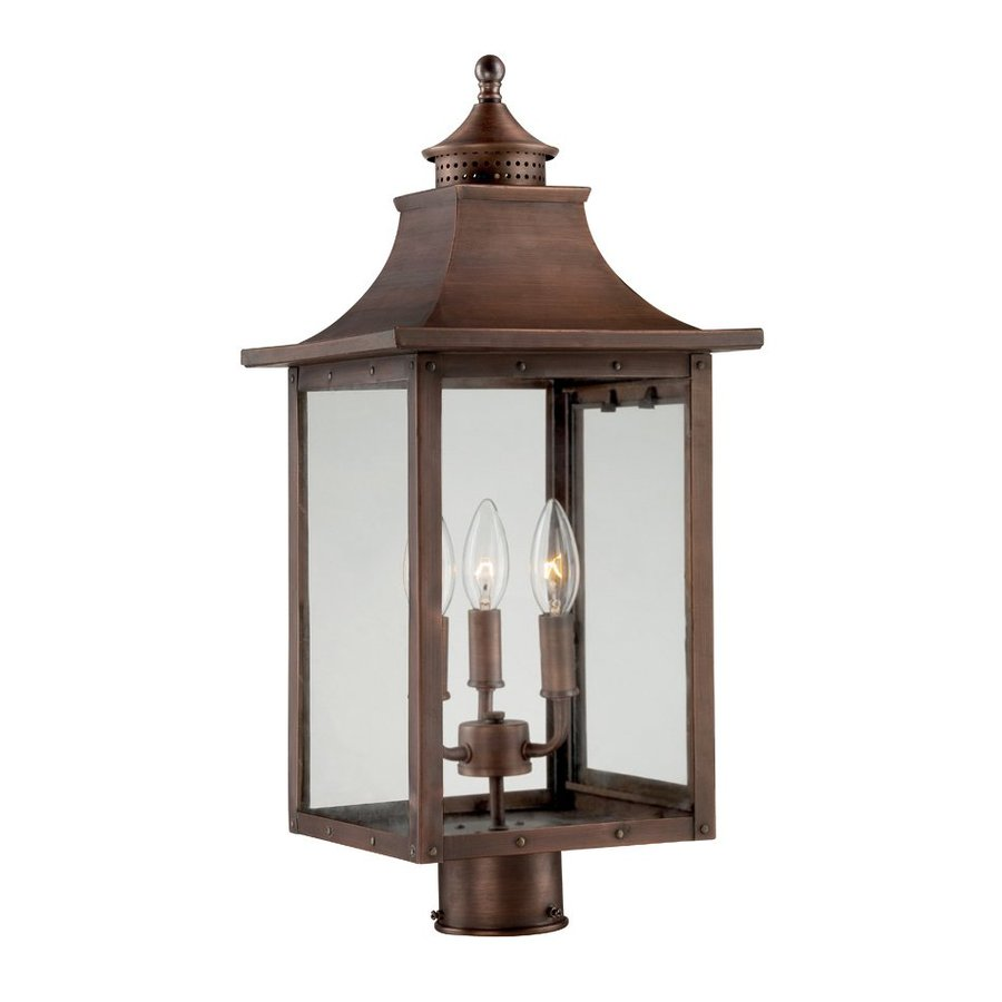 Acclaim Lighting St Charles 17.5-in H Copper Patina Post Light