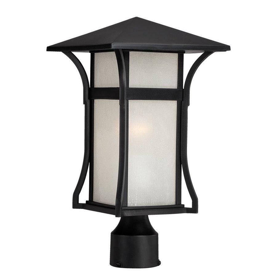 Acclaim Lighting Tahiti 15.375-in H Matte Black Post Light