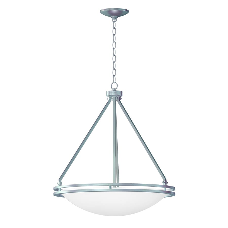 Access Lighting Aztec 25-in Brushed Steel Single Bowl Pendant