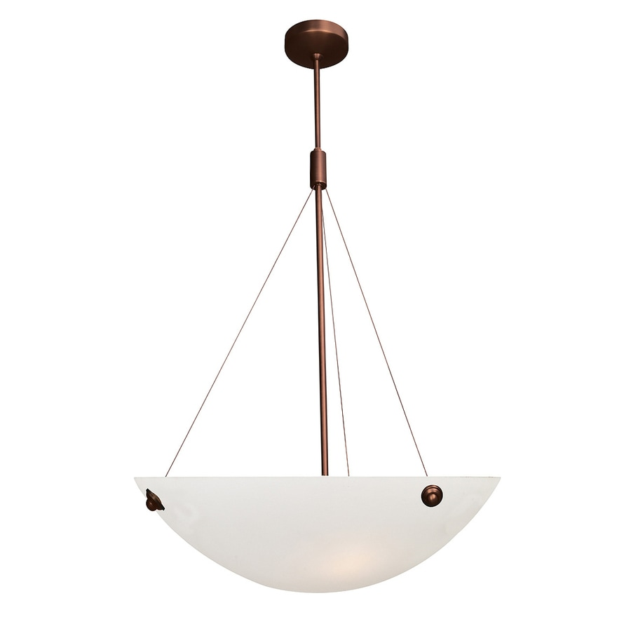 Access Lighting Noya 18-in Bronze Single Bowl Pendant