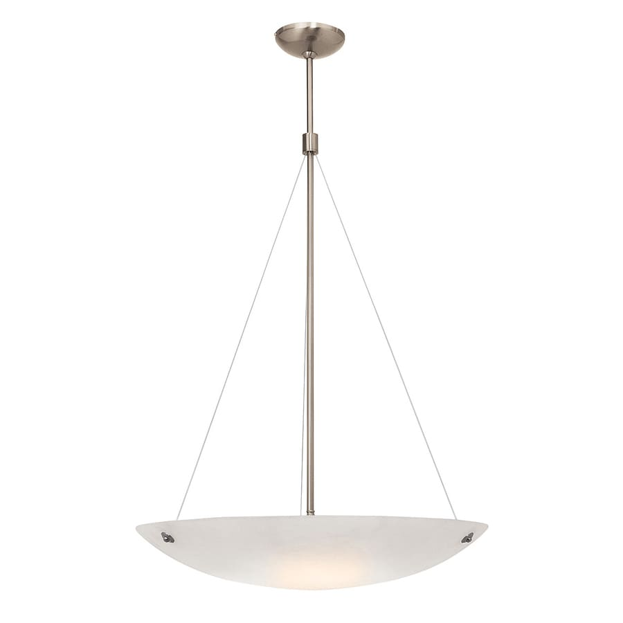 Access Lighting Noya 18-in Brushed Steel Single Bowl Pendant