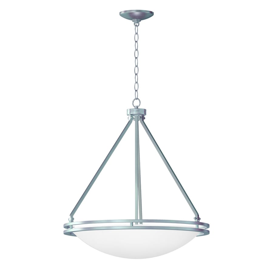 Access Lighting Aztec 21-in Brushed Steel Single Bowl Pendant