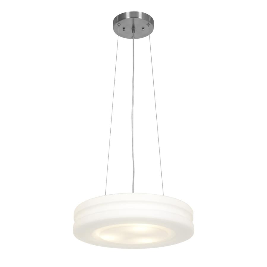 Access Lighting Altum 15.75-in Brushed Steel Single Drum Pendant
