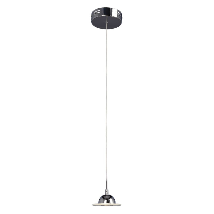 Galaxy Discus 4.5-in Polished Chrome Industrial Mini Dome LED Pendant