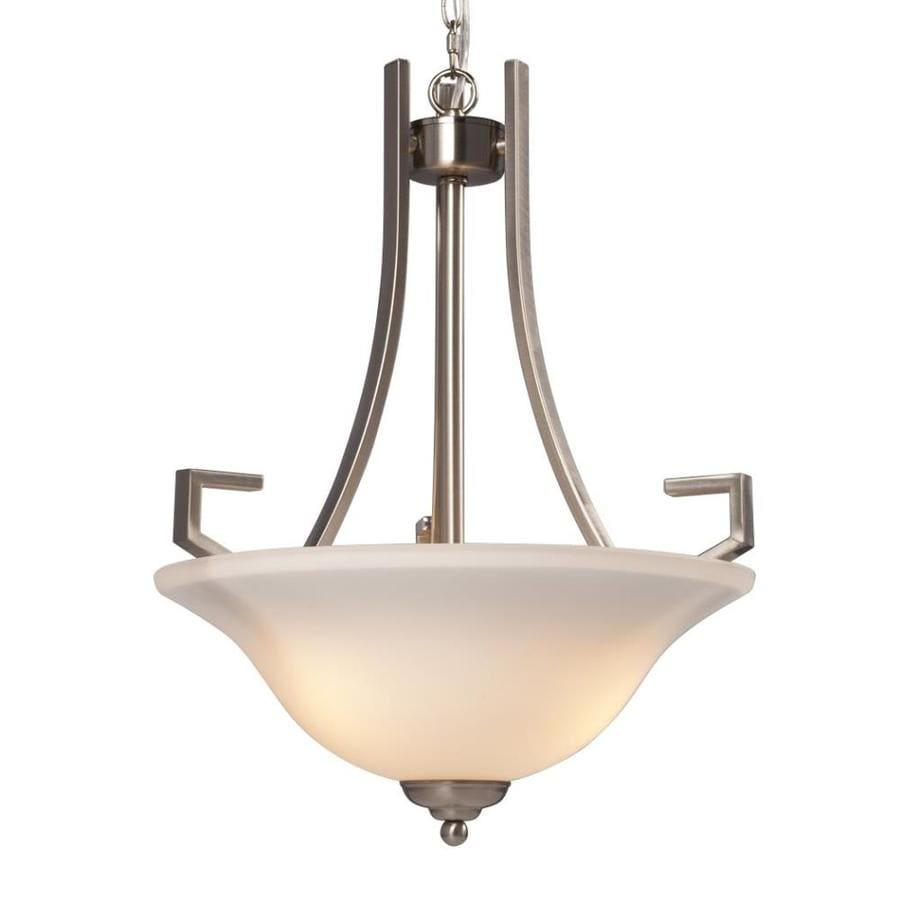 Galaxy Brockton 16.5-in Brushed Nickel Single Bowl Pendant