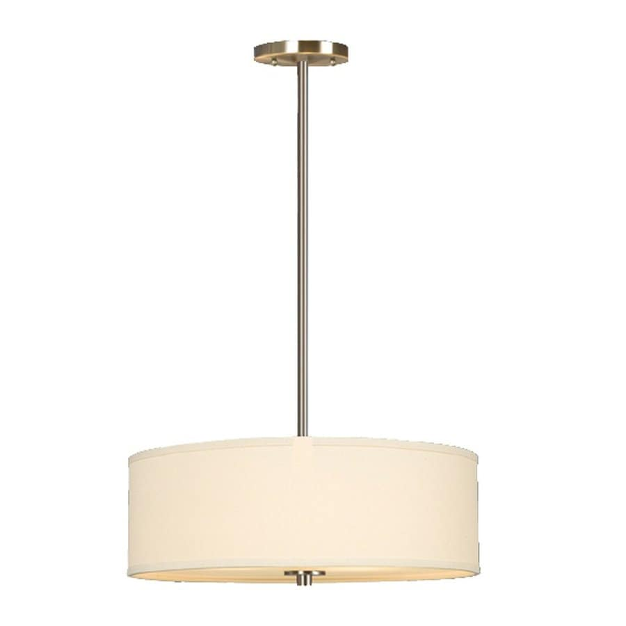 Galaxy Ansley 18-in Brushed Nickel Single Drum Pendant