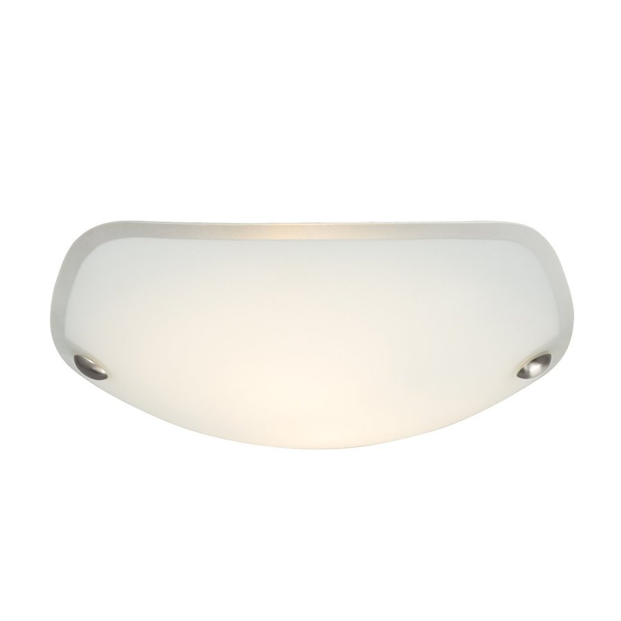Galaxy 12.875-in W Brushed Nickel Flush Mount Light