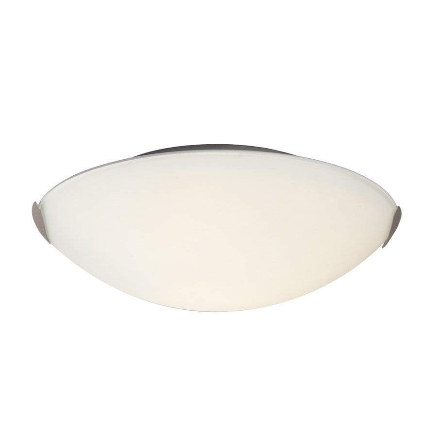 Galaxy 12-in W Brushed Nickel Ceiling Flush Mount Light