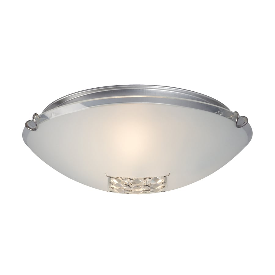 Galaxy 12.125-in W Polished Chrome Crystal Accent Flush Mount Light