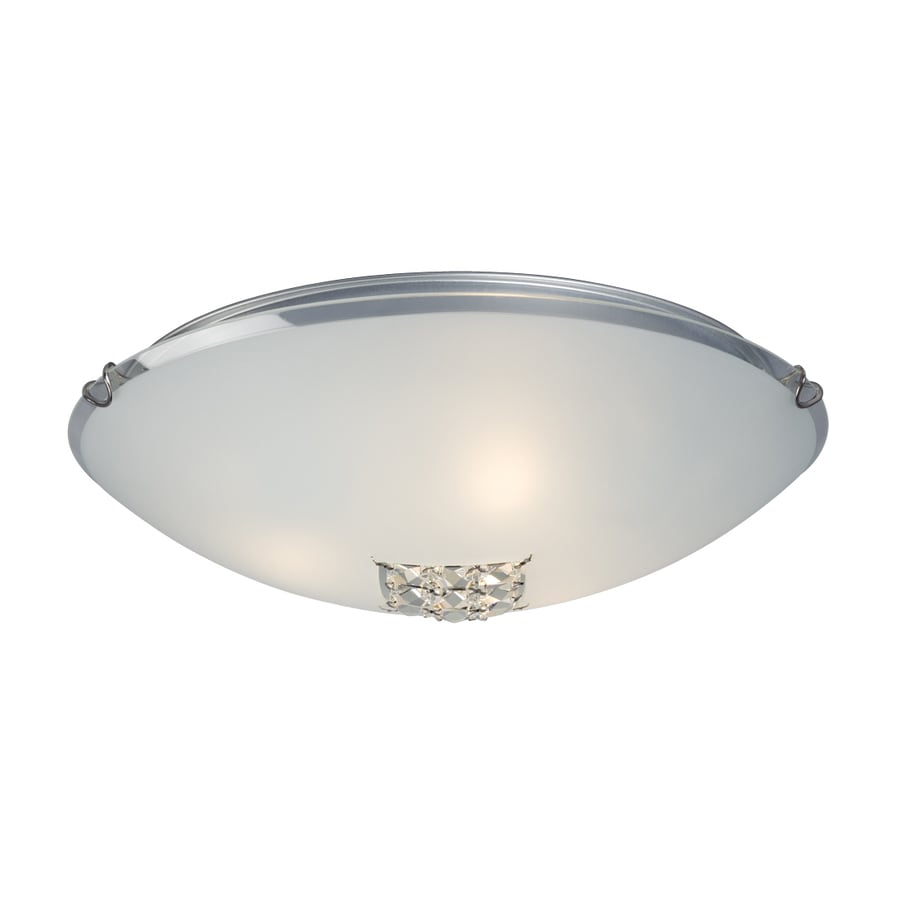 Galaxy 16-in W Polished Chrome Crystal Accent Ceiling Flush Mount Light