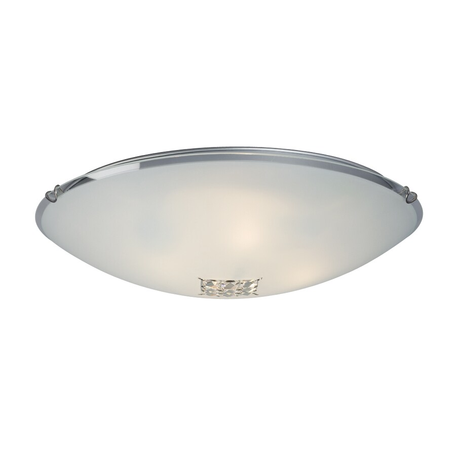 Galaxy 20-in W Polished Chrome Crystal Accent Flush Mount Light