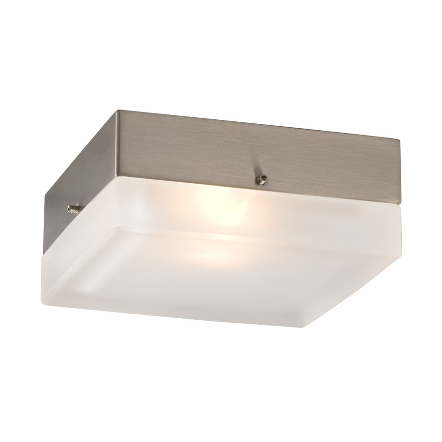 Galaxy 5.25-in W Brushed Nickel Flush Mount Light