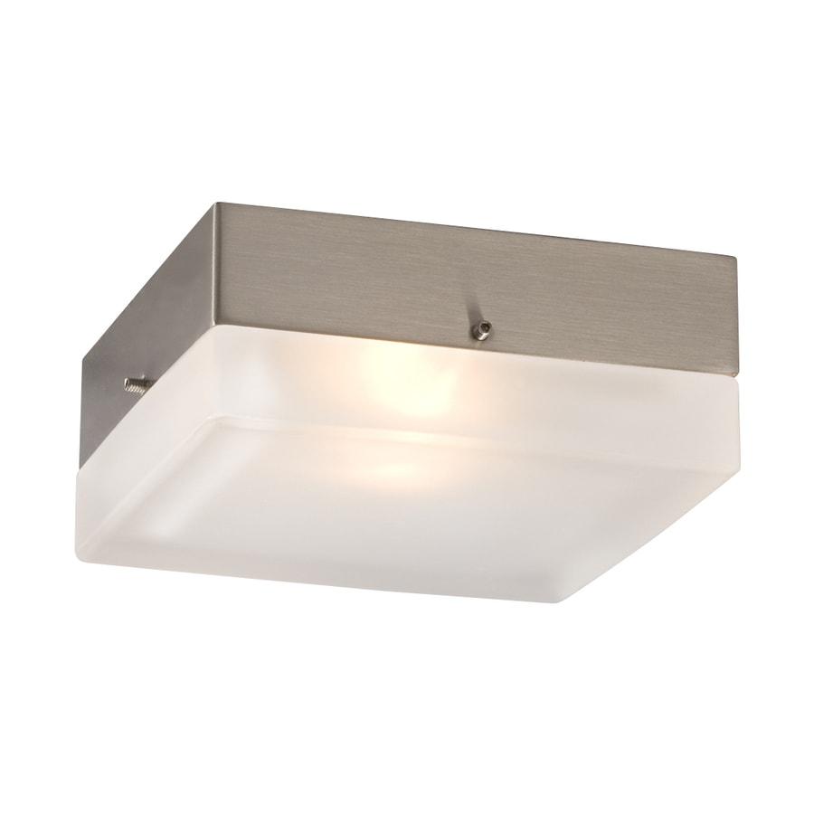 Galaxy 5.25-in W Brushed Nickel Ceiling Flush Mount Light