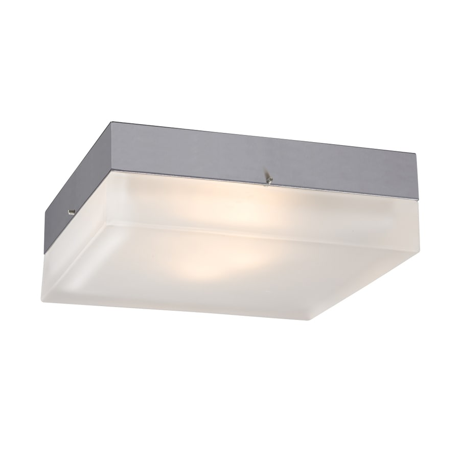 Galaxy 9-in W Chrome Flush Mount Light
