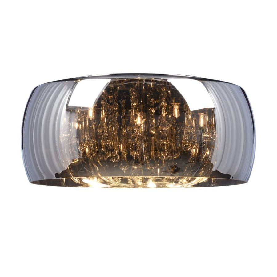 Galaxy Reflections 20-in W Polished Chrome Flush Mount Light