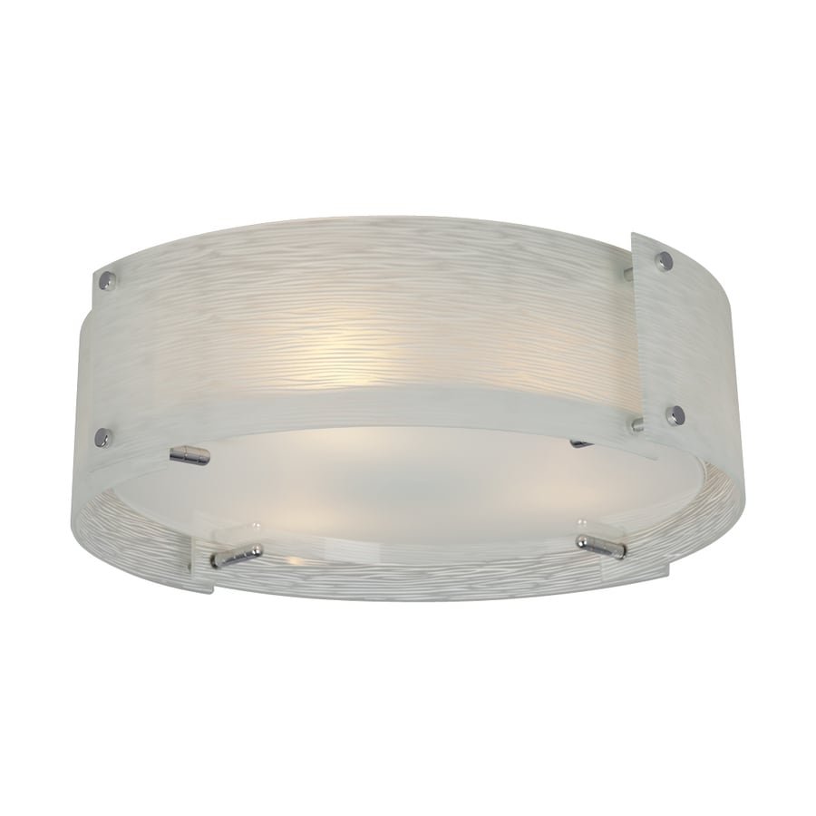 Galaxy Venta 17.875-in W Polished Chrome Ceiling Flush Mount Light