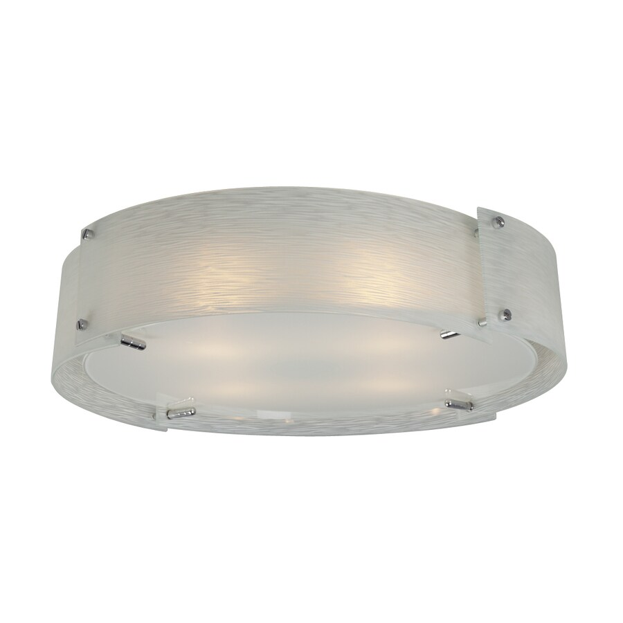 Galaxy Madeo 22.25-in W Polished chrome Flush Mount Light