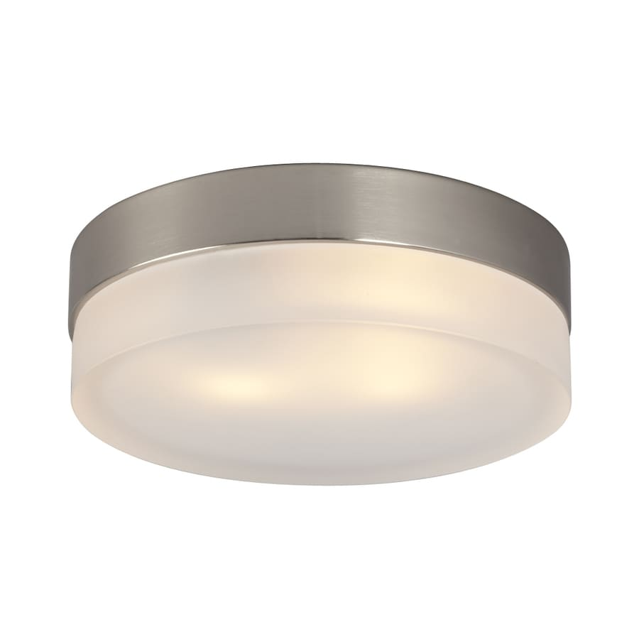 Galaxy 9-in W Brushed Nickel Ceiling Flush Mount Light