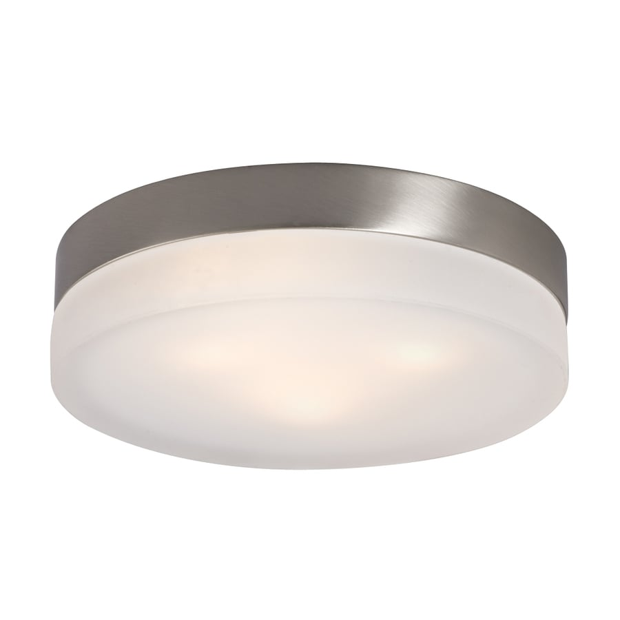 Galaxy 11-in W Brushed Nickel Ceiling Flush Mount Light