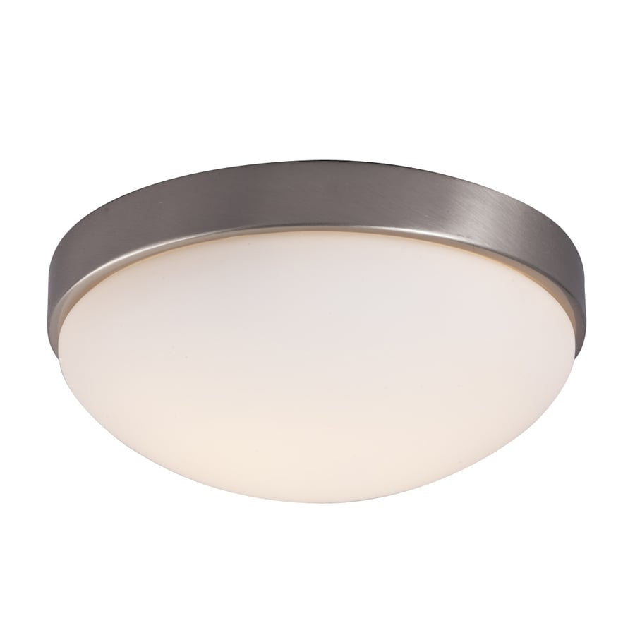 Galaxy 11.25-in W Brushed nickel Flush Mount Light