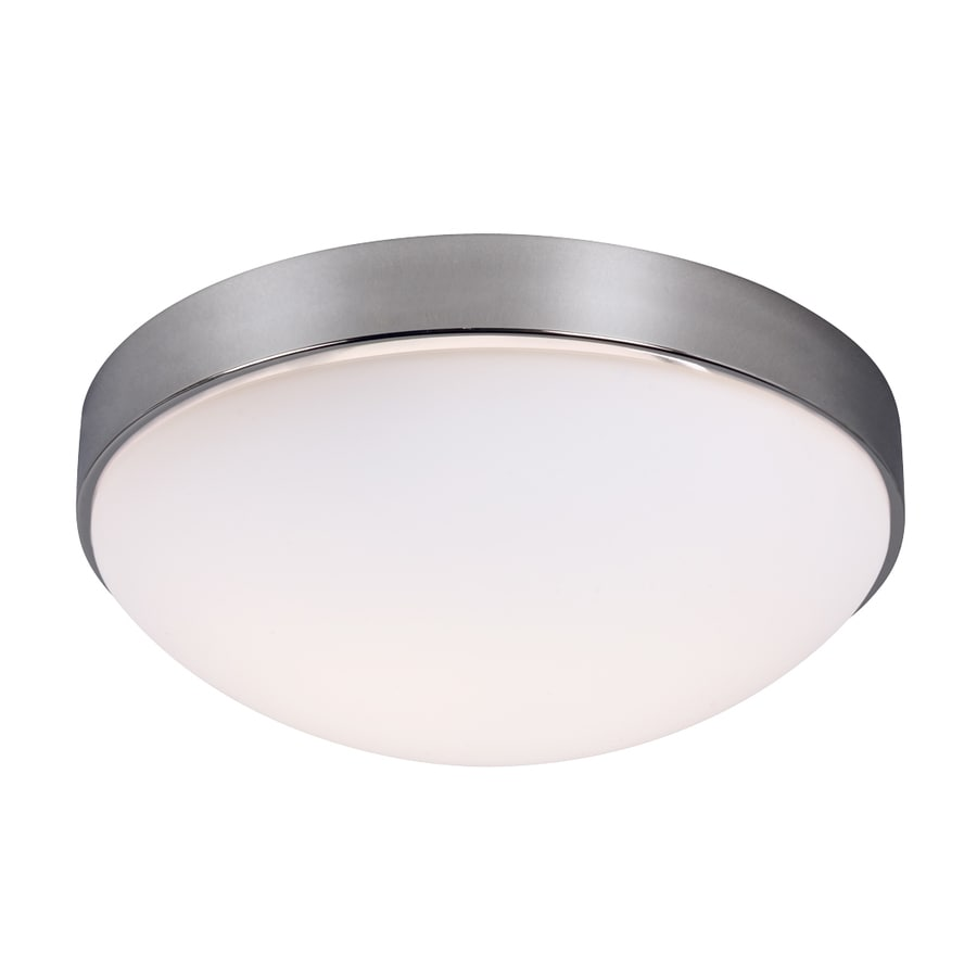Galaxy 11.25-in W Chrome Ceiling Flush Mount Light