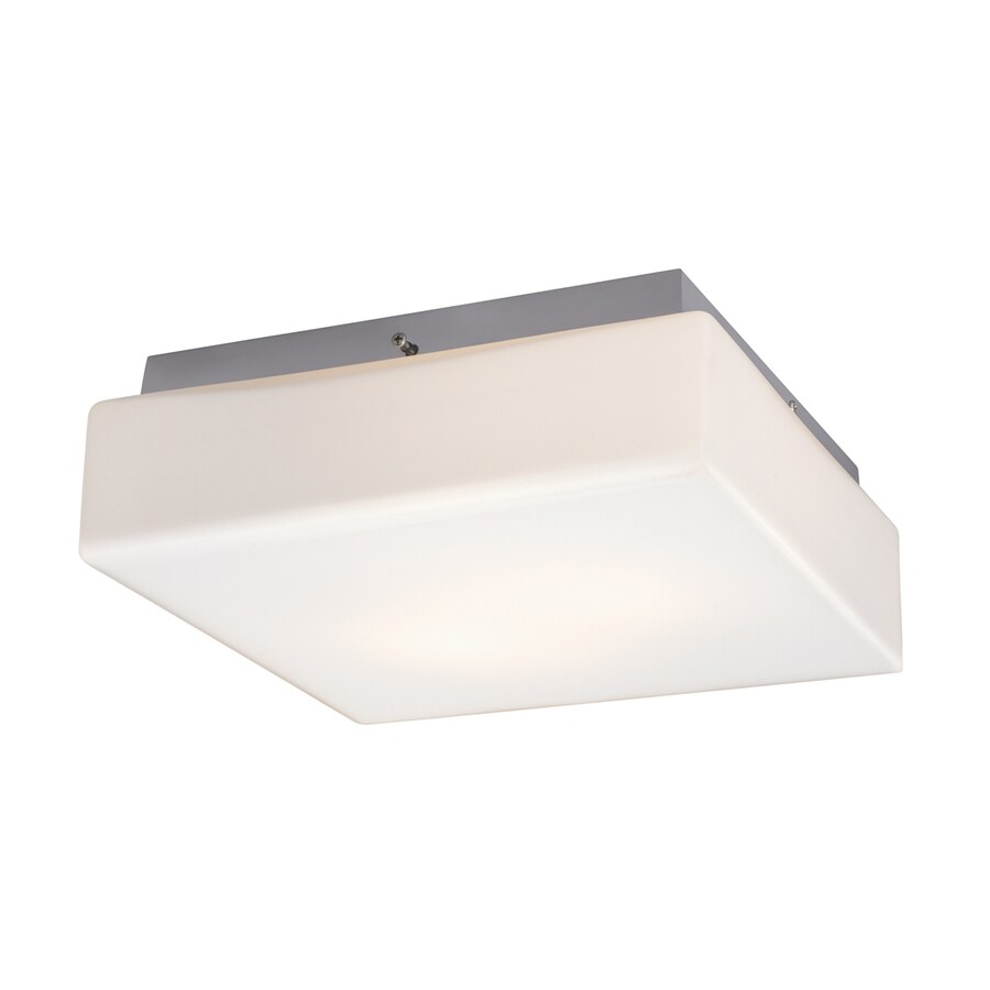 Galaxy 11.125-in W Chrome Ceiling Flush Mount Light