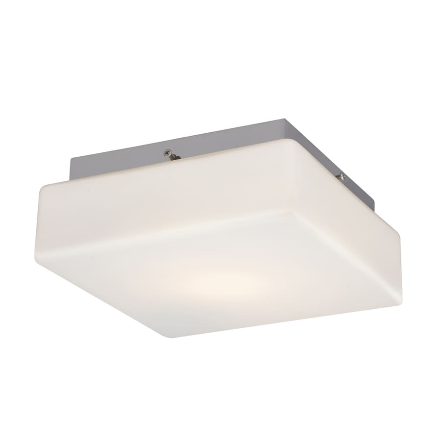 Galaxy 8.5-in W Chrome Ceiling Flush Mount Light