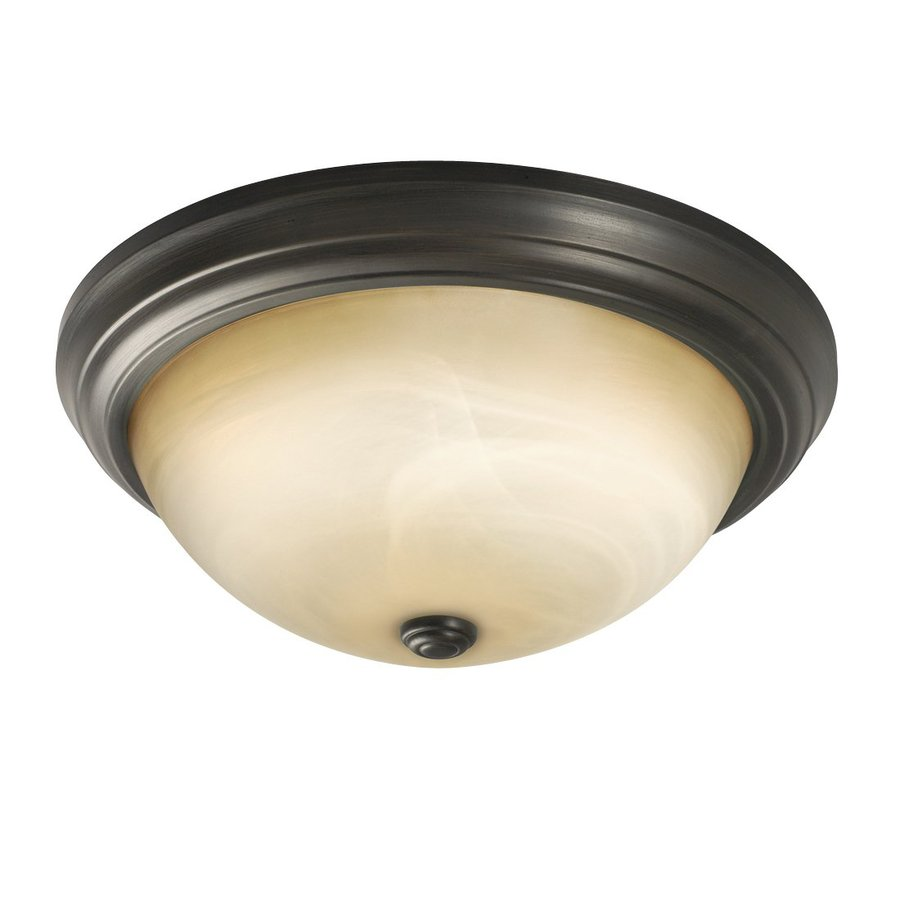 Galaxy 15.125-in W Oil Rubbed Bronze Flush Mount Light