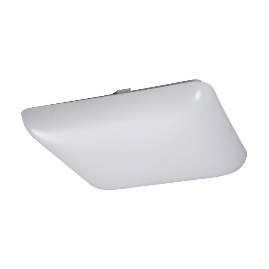 Galaxy White 14-in Flush Mount Fluorescent Light