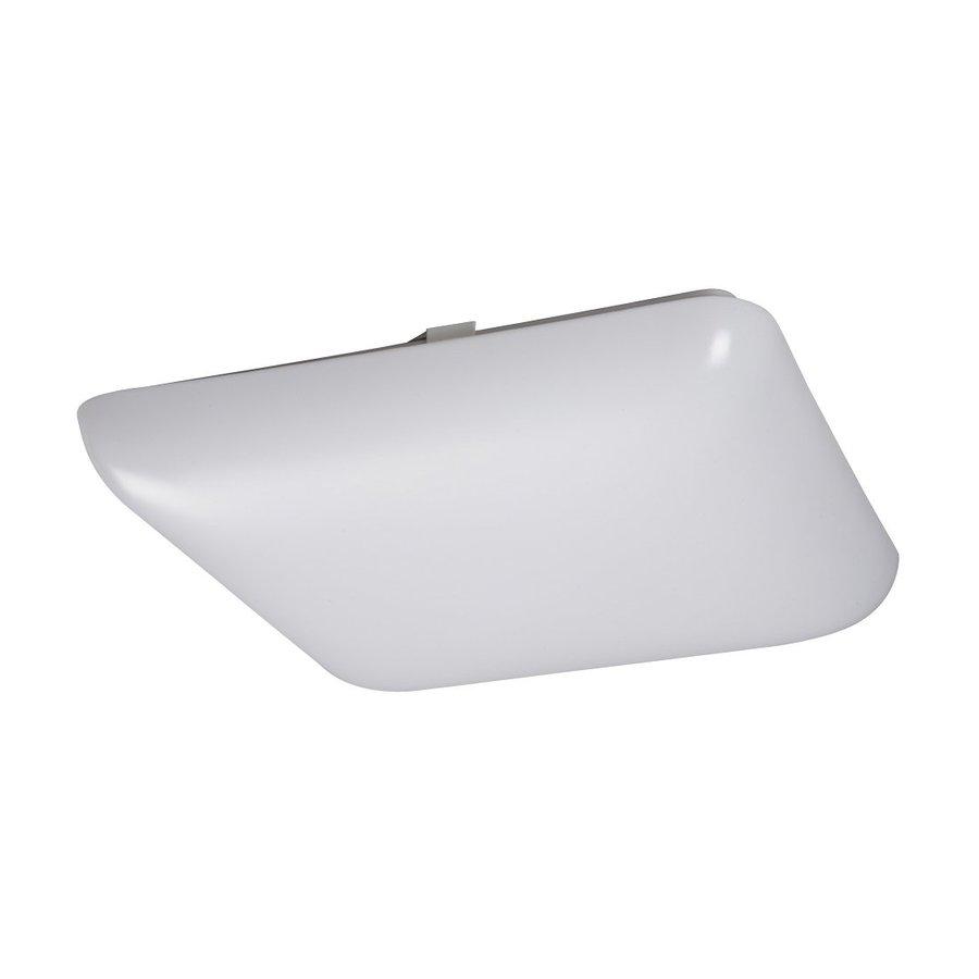 Lowes Fluorescent Light: Galaxy White Acrylic Flush Mount Fluorescent Light (Common