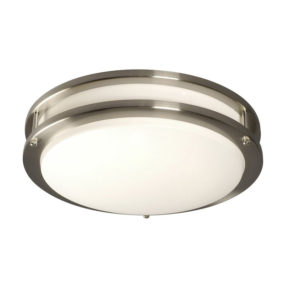 Galaxy Brushed Nickel 14-in Flush Mount Fluorescent Light ENERGY STAR