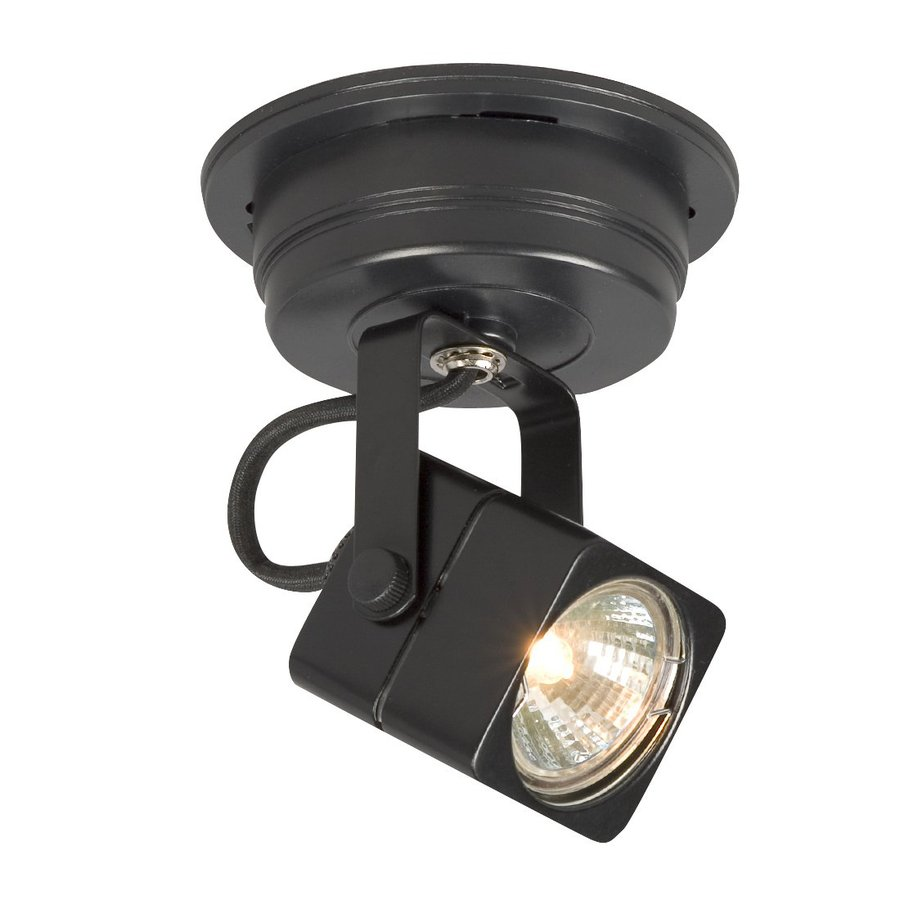 Galaxy Apollo 4.75-in Black Flush Mount Fixed Track Light Kit