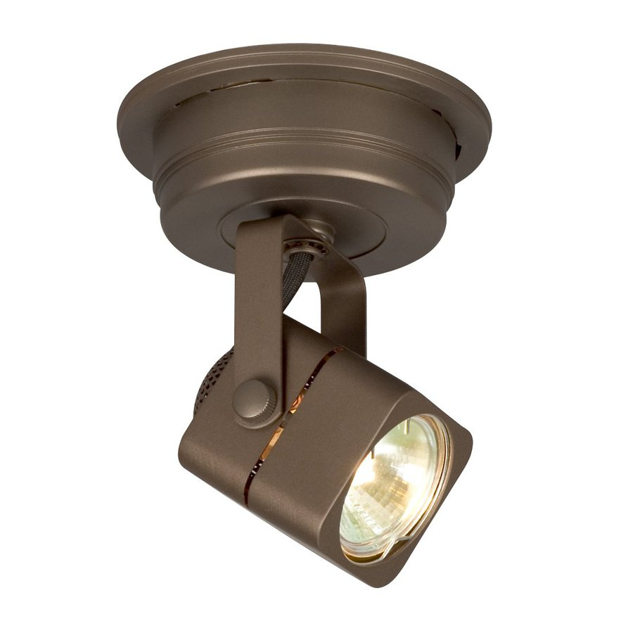 Galaxy Apollo 4.75-in Bronze Flush Mount Fixed Track Light Kit