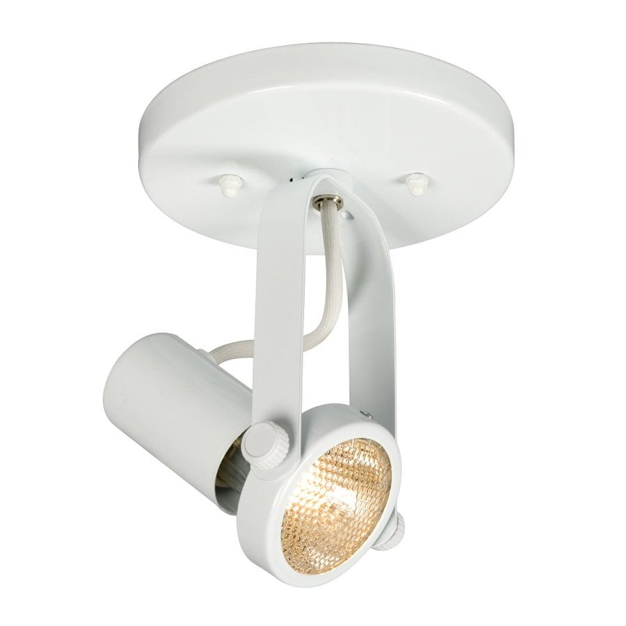Galaxy 5.5-in White Flush Mount Fixed Track Light Kit