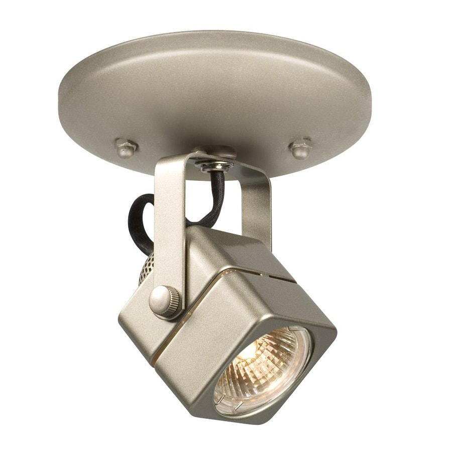 Galaxy 4.75-in Pewter Flush Mount Fixed Track Light Kit