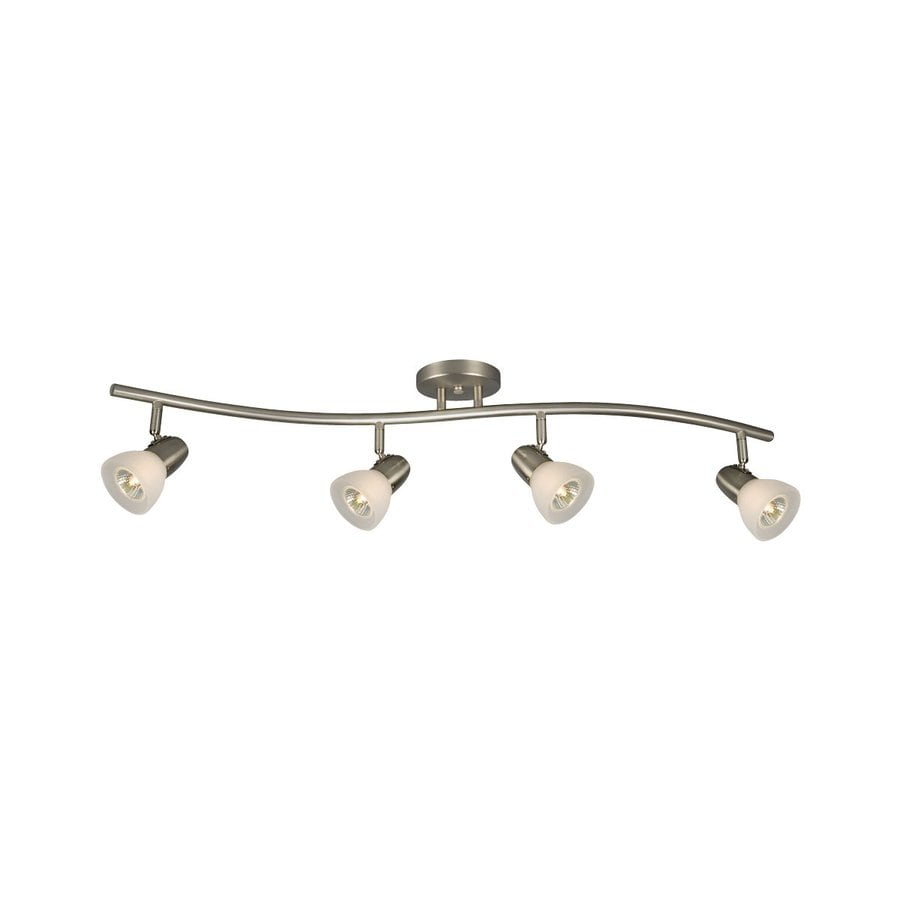 Galaxy Luna 4-Light 34-in Brushed Nickel Fixed Track Light Kit