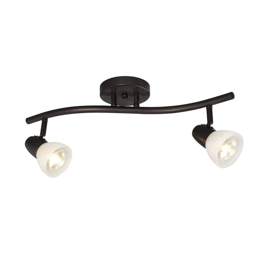 Shop Galaxy Luna 2Light 19in Old Bronze Fixed Track Light Kit at