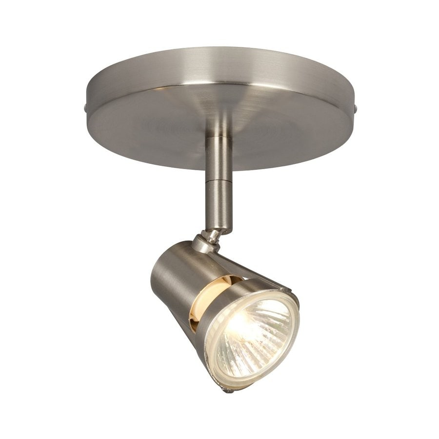 Galaxy 4.375-in Brushed Nickel Flush Mount Fixed Track Light Kit