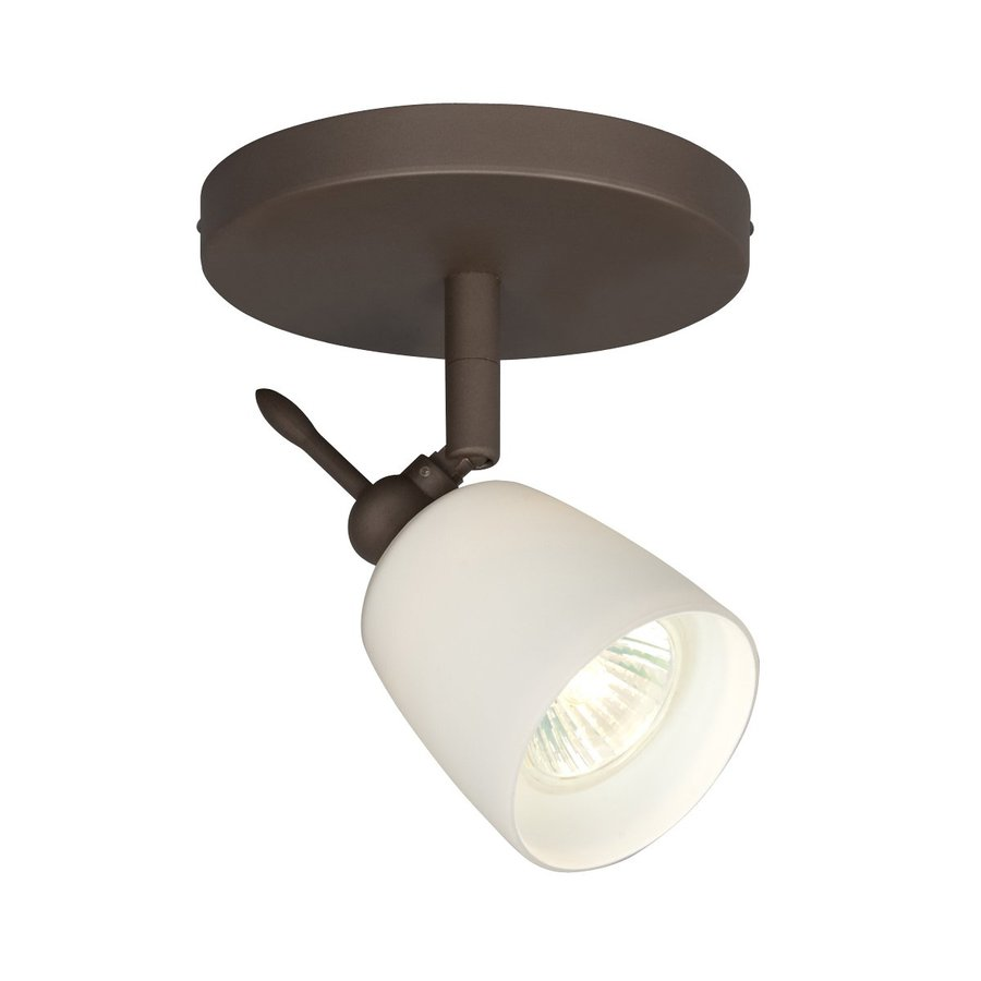 Galaxy 5-in Oil Rubbed Bronze Flush Mount Fixed Track Light Kit