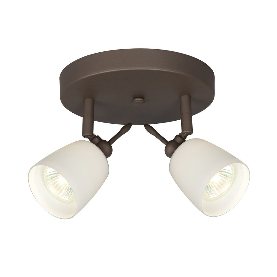 Galaxy 2-Light 7-in Oil Rubbed Bronze Flush Mount Fixed Track Light Kit