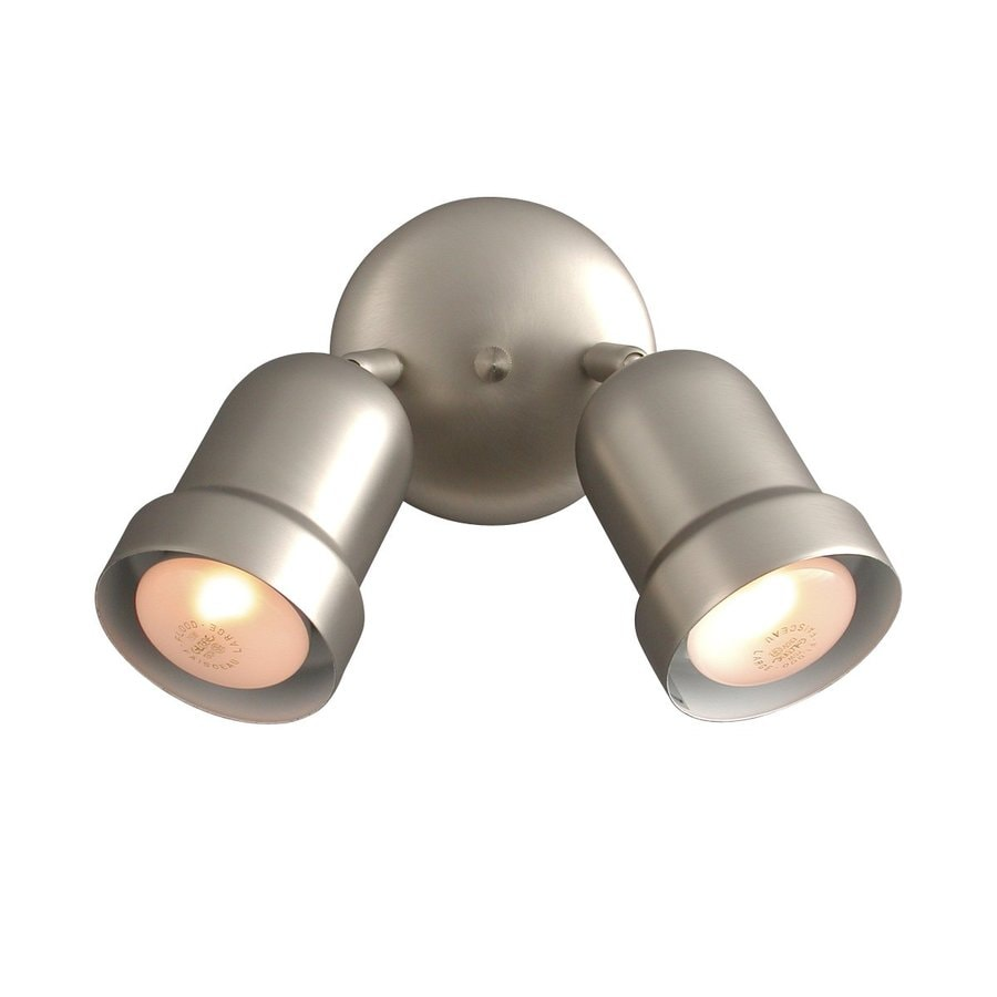 Galaxy 2-Light 5-in Pewter Flush Mount Fixed Track Light Kit