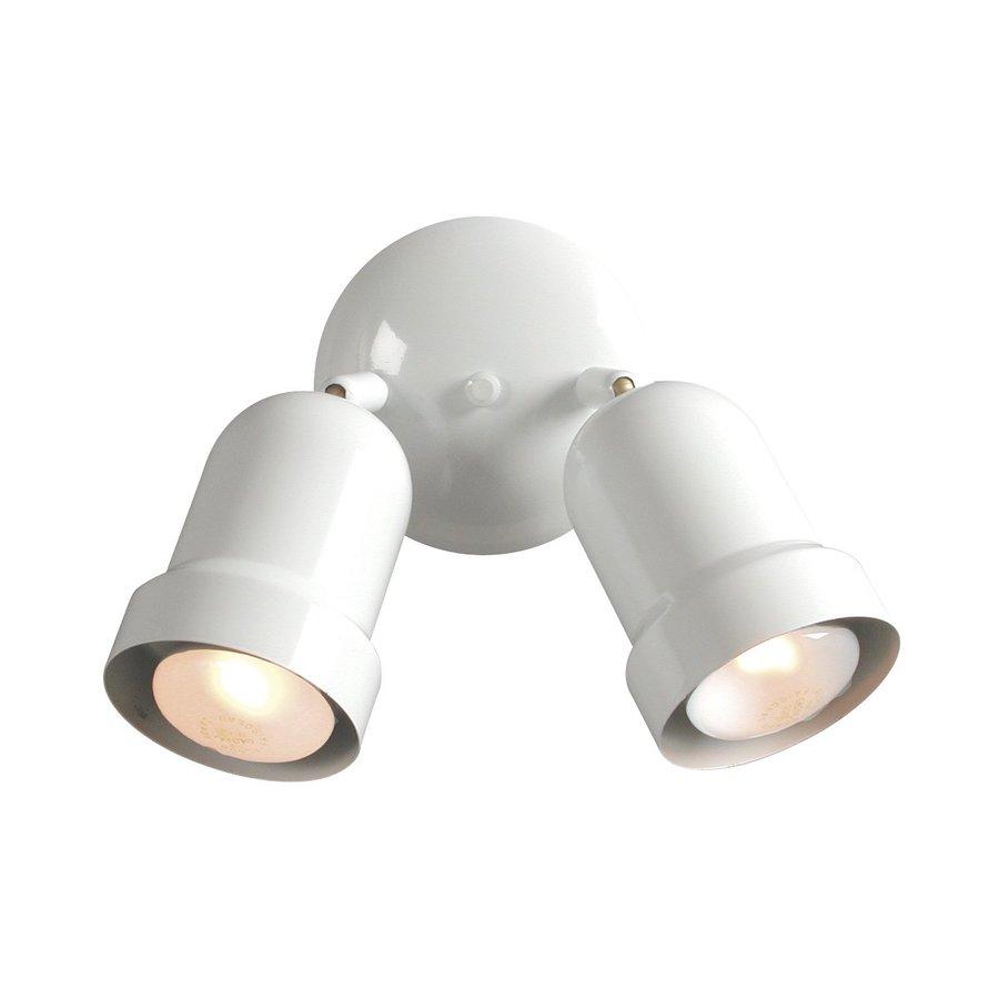 Galaxy 2-Light 5-in White Flush Mount Fixed Track Light Kit